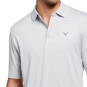 Callaway Opti Dri Light Gray XL Stretch Golf Polo